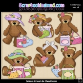 Ramona Bear Goes Shopping ClipArt Graphic Collection