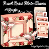 Peach Roses Photo Frame