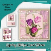 Spring Tulips Card Front