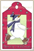 Christmas Snowman Decorative Tag - REF_T12