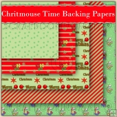 5 Christmouse Time Backing Papers Download (C210)