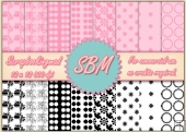 8 PNG Paper Overlays 12 x 12 Designer Resources Pack 7