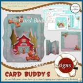 Flight School 7x7 Bracket Edge Shadow Box Fold Card Kit