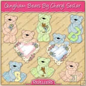 RESALE ART WORK - Gingham Bears Collection