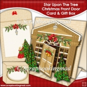 Star Upon The Tree Christmas Front Door Tent Card & Gift Box