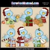 Pretty Bird Christmas ClipArt Collection