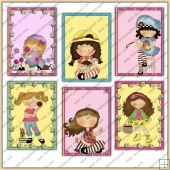 6 Huckleberry Friends Quick Cards PDF Download