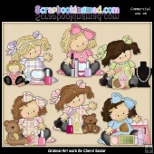 Madison and Molly Love Makeup ClipArt Graphic Collection