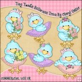 Tiny Tweets Ballerinas ClipArt Graphic Collection