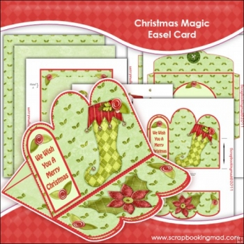 Christmas Magic Easel Card Download
