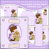 Annabelles Garden Basket Gatefold Card & Bookmark