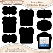 Fancy Mats Photoshop Custom Shapes .CSH - CU OK
