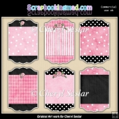 Designer Sign Boards Pink And Black ClipArt Collection