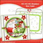 HO HO HO Shadow Box Card and Envelope