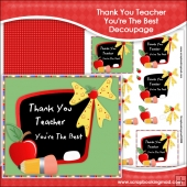 Thank You Teacher You're The Best Decoupage Download