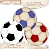 Layered Football Template PNG & PSD - CU OK