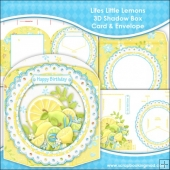 Lifes Little Lemons 3D Shadow Box Card & Envelope
