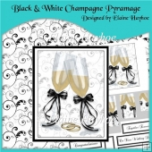 Black and White Champagne Pyramage