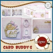 Beary Cute Baby Girl Assymetric Fold & Side Panel Card Kit
