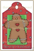 Christmas GingerBread Man Decorative Tag - REF_T19