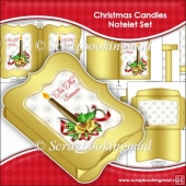 Christmas Candles Notelet Set