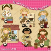 My Little Girl Cozy Home ClipArt Graphic Collection