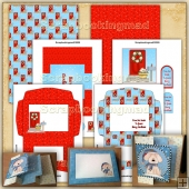 Christmas From Our House To Your House Fold Card Kit
