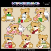 Sweet Stuffins Fitness Bears ClipArt Collection