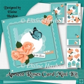 Apricot Roses Card Mini Kit