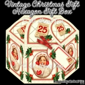 Vintage Christmas Gift Hexagon Gift Box