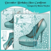 December Birthday Shoe Cardfront