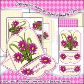Daisy Happy Birthday, Thank You JPEG Easel Card Download