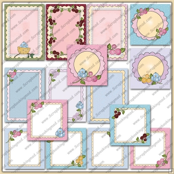 15 Spring Blooms Card Starters PDF Download