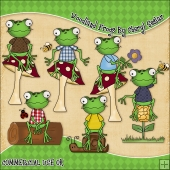 Woodland Frogs ClipArt Graphic Collection