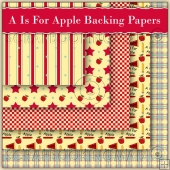 5 A Is For Apple Backing Papers Download (C109)