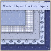 Winter Thyme 5 Backing Papers Download (C52)