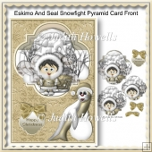 Eskimo And Seal Snowfight Pyramid Card Front