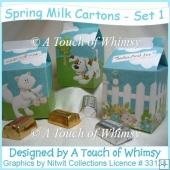 Spring Milk Carton Set 1