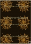 Backing Papers Single - Black & Orange Cobwebs - REF_BP_111