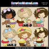 Little Lucy Loves Cupcakes ClipArt Graphic Collection