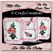Wild Rose Zig Zag Pocket Card