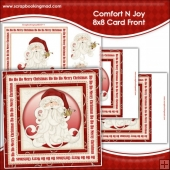 Comfort N Joy Large 8x8 Card Front