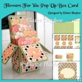 Flowers For You Pop Up Box Card