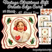 Vintage Christmas Gift Ornate Edge Card