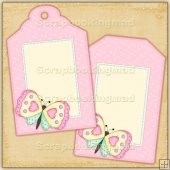 Butterfly Gift Tags - REF_T682 & REF_T683