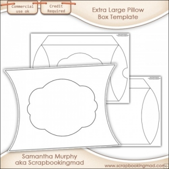 Extra Large Pillow Box Template Commercial Use