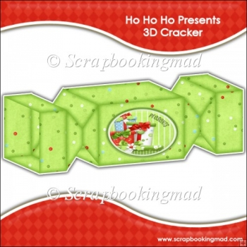 Ho Ho Ho Presents 3D Cracker Gift Box