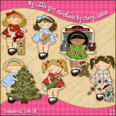 My Little Girls Christmas ClipArt Graphic Collection