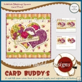 Yuletide Blessings Square Card Front