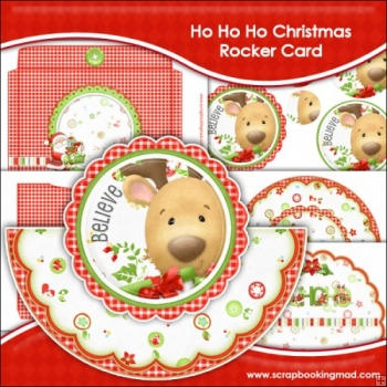 Ho Ho Ho Christmas Rocker Card Download
